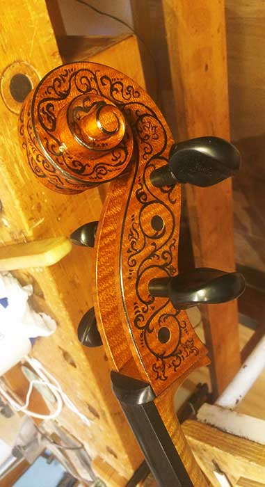 Decorazione violoncello Michele Dobner